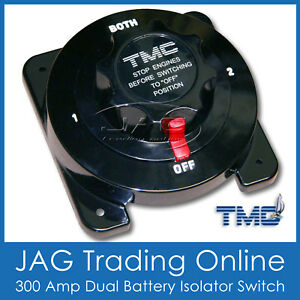 TMC 300A DUAL BATTERY ISOLATOR SWITCH KILL - Boat/Caravan/4X4/RV/Marine/Cut-off