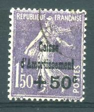 "FRANCE N° 268  "" CAISSE AMORTISSEMENT + 50c  S. 1F 50 ""  OBLITERE TTB"