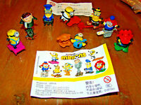 Ü-Ei Minions Rise of Gru aus HK/China DV597 - DV604 Komplettsatz alle BPZ