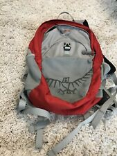 Osprey jet child kid day pack red gray backpack EUC Travel Daypack