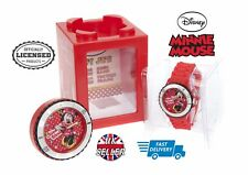 Officially Licensed Minnie Mouse Watch 4 In 1 Cube Frame Alarm Clock Money Bank