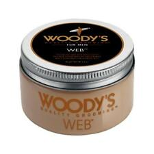 Woody's Hair Styling Web for Men 3.4 oz Texturize Matte Finish Barber Grooming