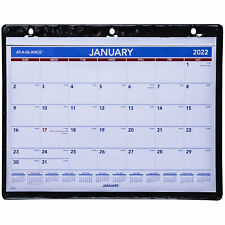 2022 At A Glance Sk8 00 Monthly Calendar In Vinyl Holder 11 X 8 14