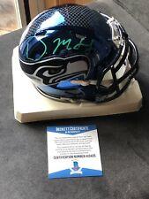 DK Metcalf autographed signed Chrome Mini Helmet Beckett BAS COA NFL Seahawks