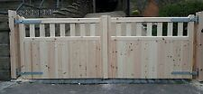 cottage style wooden timber driveway entrance gates 3'0''x8'0''(any size)style3