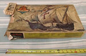 VINTAGE MINI-CRAFT #121:600 SANTA MARIA/ 1:24 SCALE-SEALED PARTS-COMPLETE? AS IS