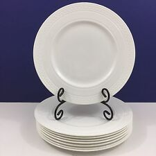 "NEW!! Set of 8 Wedgwood Bone China Intaglio ""Grecian Key"" 10.7"" Dinner Plates"