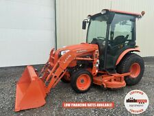2018 Kubota B3350hsd Tractor With Loader Amp Belly Mower Cab 4x4 Hydro 413 Hrs