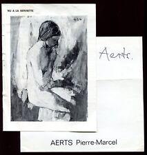 """autographe de l'Artiste Peintre """" Pierre-Marcel AERTS """""""