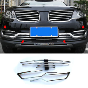 For Lincoln MKX 2016-2018 ABS chrome front bumper grill forming strip cover trim