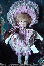 "Jerri McCloud all ceramic doll ""Annette"", 17"" tall, beautiful Victorian girl"