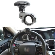 Auto Car Carbon Fiber Colour Grid Pattern Steering Wheel Spinner Round Knob