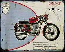 Ducati 200Gt A4 Metal Sign Motorbike Vintage Aged