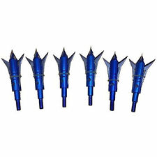 6x 100Grain 2 Blade Hunting Crossbow Broadheads Archery Fishing Adjustable Heads