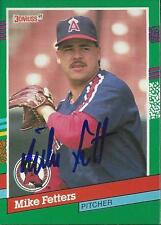 Mike Fetters California Angels 1991 Donruss Signed Card