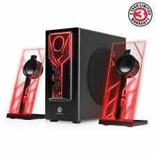 GOgroove BassPULSE 2.1 Satellite Stereo Gaming Speakers and Surround Sound