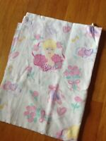 Vintage 1995 BARBIE Ballerina Hearts Twin Flat Top Sheet BIBB Co Bedding