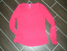 Next Pink T shirt size 14 top with gathered long sleeve cuffs