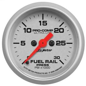 "Auto Meter Fuel Pressure Gauge 4386; Ultra-Lite 0-30000 psi 2-1/16"" Electrical"