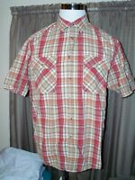 MEN'S PENDELTON HIKER STRIPED SHORT SLEEVED BUTTON SHIRT L LARGE