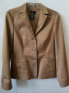 *NEW* BCBG Max Mara $248 Women's Tan Khaki Jacket Blazer Suit Size 6