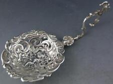 800 Silver Hanau Germany MONKEY SPOON elaborate cherub birds STORCK & SINSHEIMER