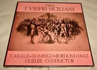Verdi : I Vespri Siciliani by Caballe & Domingo (Vinyl LP, Box, Sealed)