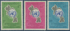 LAOS N°120/122** Nations Unis.  , TB, 1965, United Nations set MNH