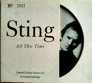 STING ALL THIS TIME LIMITED EDITION PICTURE CD GATEFOLD PACKAGE