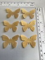 24EDIBLE WAFER BUTTERFLIES SHINY GOLD LACES CAKE BIRTHDAY ANNIVERSARY ENGAGEMENT