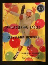 Cleveland Browns vs Philadelphia Eagles Official 1954 Program(Vintage)   M1373