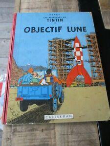 Hergé-Tintin-Bd Objectif lune-dos rouge 4ème plat B27 bis-1960
