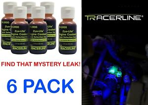 Spectronics Corp Tracer TP39000601 6 Pack Engine Coolant Dye 1oz New Free Ship