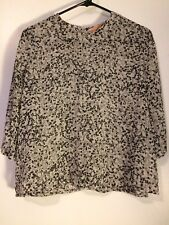 Lovely Carin Wester (Urban Outfitters) Black White Sheer Heart Print Top Sz XS