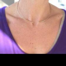 14k Yellow Gold Handmade Choker Collar Open Cuff Necklace Fine Jewelry Gift