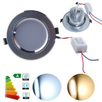 1/4/10x 3W 5W 7W 9W 12W LED Recessed Ceiling Light Downlight Warm/Day White Lamp