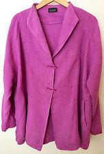 Femme DENMARK RAW lin veste en Orchidée rose Attaches à boutons-Olives 20