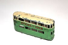 Dinky Toys Pre War 2 Tone Green/Cream Ovaltine Tram Car # 27 With Metal Wheels