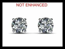 206519f747e 3 4 ctw D VS2 Real 100% Natural Round Cut Diamond Stud Earrings