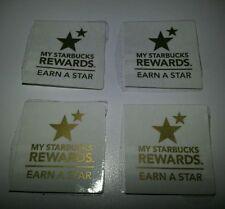 My Starbucks Rewards Earn A Star unused codes lot of 4 - 2 x 15 points, 2 x 10
