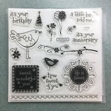 Close to my Heart S1206 Life Is Tweet CTMH Acrylic Stamps Set NEW Sentiments