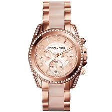 NWT Michael Kors MK Women's Mini Blair Rose Gold-Tone Watch MK6175