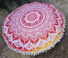 100 % Cotton Floor Cushion Cover Indian Mandala Style Home Decor Ombre Bohemiam