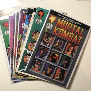 Mortal Kombat Blood And Thunder Lot Of 9 Comic Books