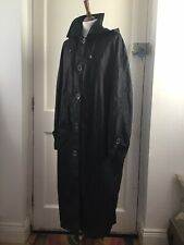 Four Seasons Black Crinckle Maxi Raincoat Size XL New Hood