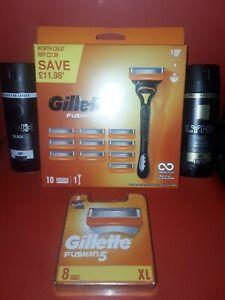 Gillette fusion 5  Razor + 18 blades +  Lynx x 2 FREE P&P NO RESERVE