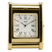 900510 Altona High Quality Solid Brass Gold Finished Miniature Timepiece Clock