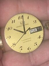 Universal Geneve Chronometer UNISONIC Watch FOR PARTS 14k Crown