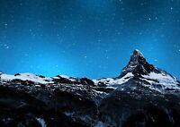 Cool Matterhorn Mountain Peak Poster Size A4 / A3 Landscape Poster Gift #8581