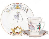 Cinderella Ballet 3 pc Imperial Lomonosov Russian Porcelain Teacup Saucer Plate